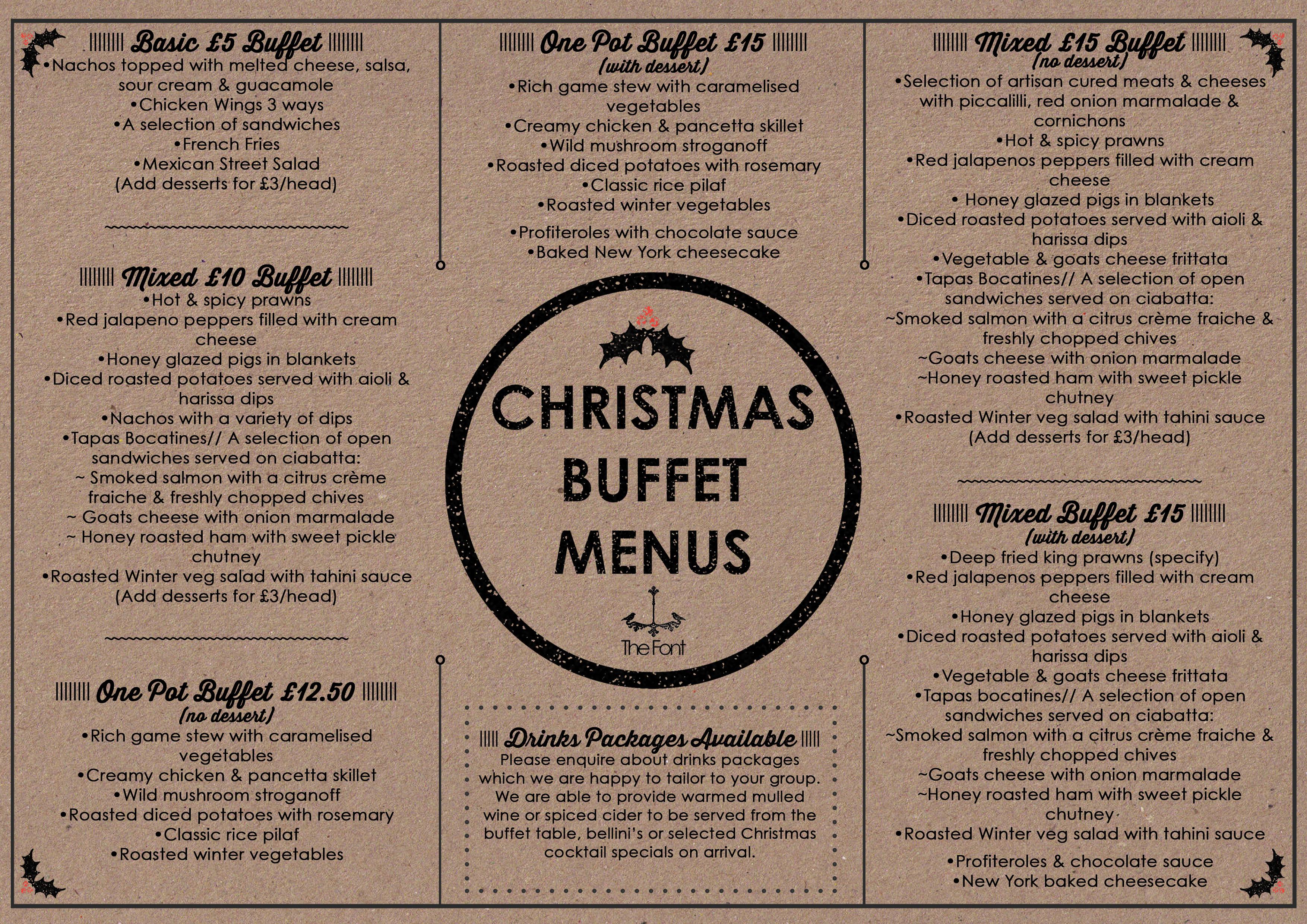 Christmas Buffet Menus.Christmas Party Thefontmcr