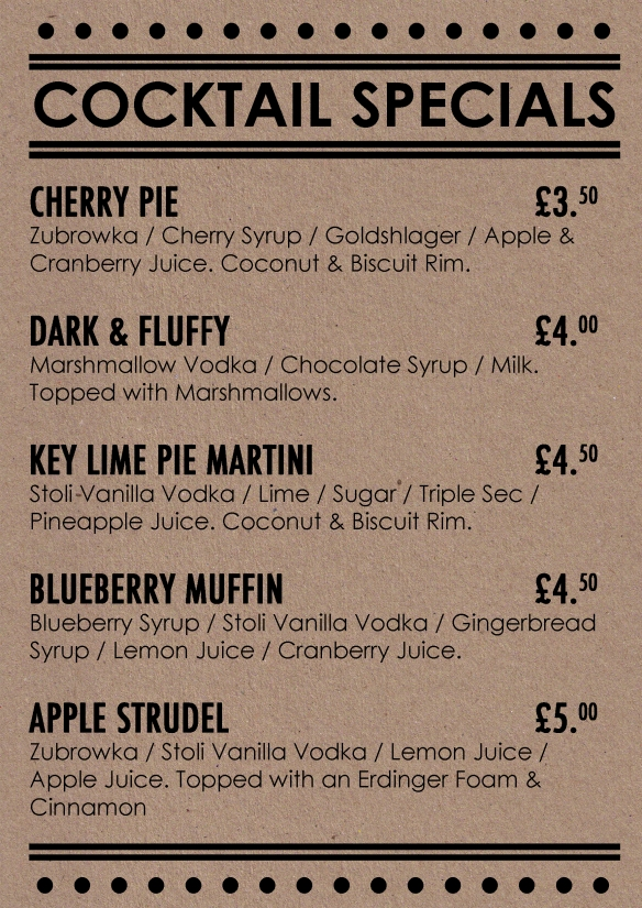 mcr cocktail specials internet