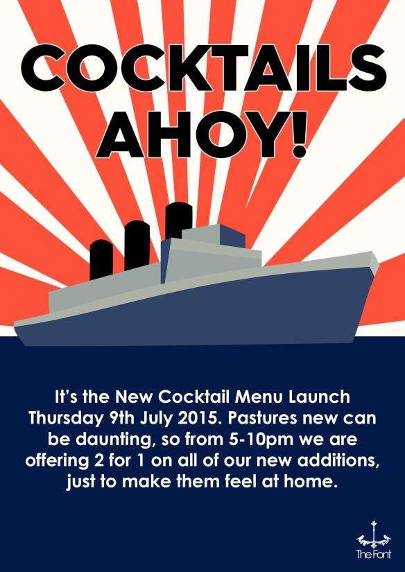 new cocktails internet poster