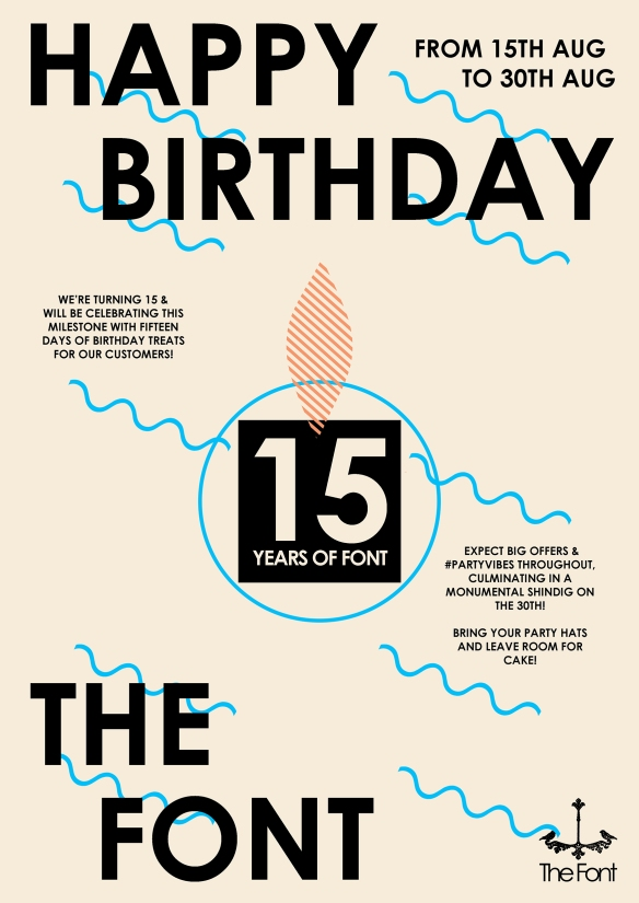 15th birthday poster