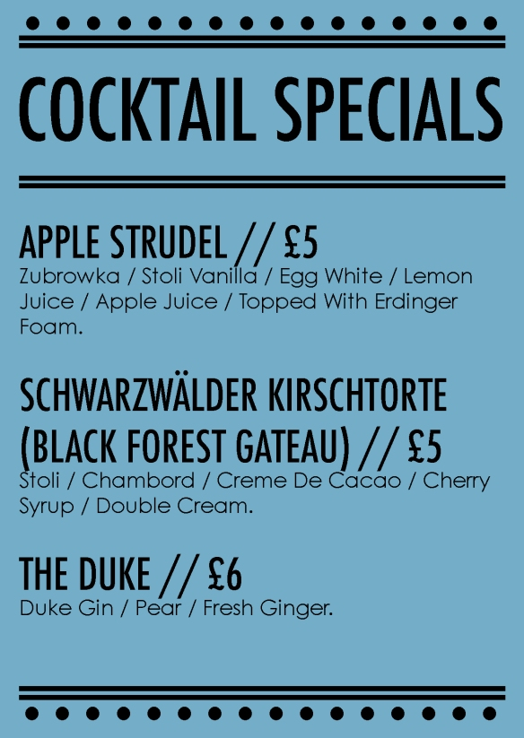 september cocktail specials chorlton