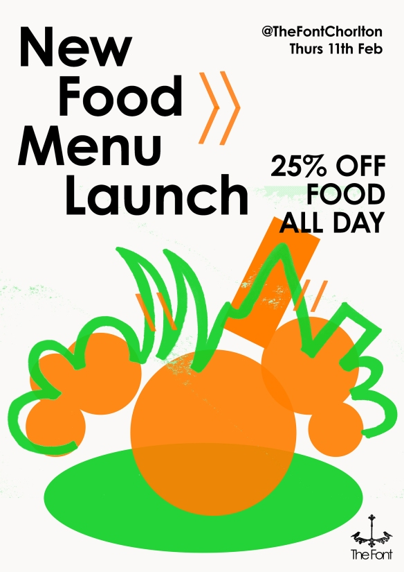 new food menu launch TWITTER:FB INTERNET POSTER