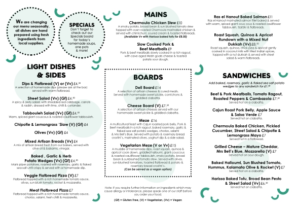 The Font Chorlton Food menu-2