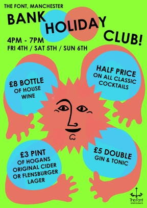 bank holiday club poster