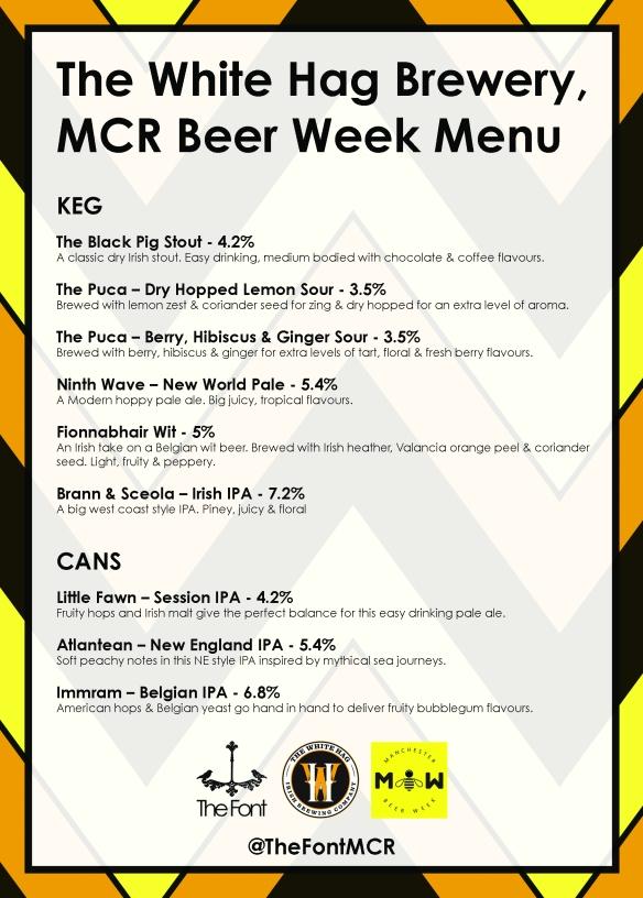 mcr beer week menu side 1