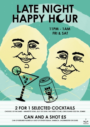 late night happy hour april