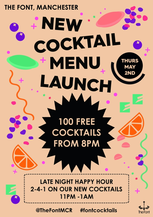 cocktail launch poster 2019